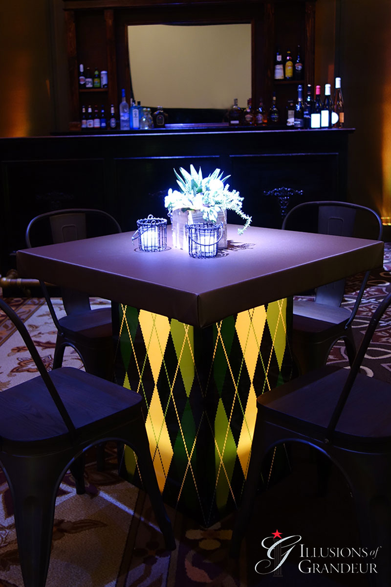 Illuminated Argyle Cocktail Tables ~ short