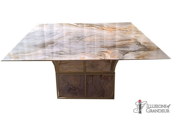 Faux Marble Dining Tables