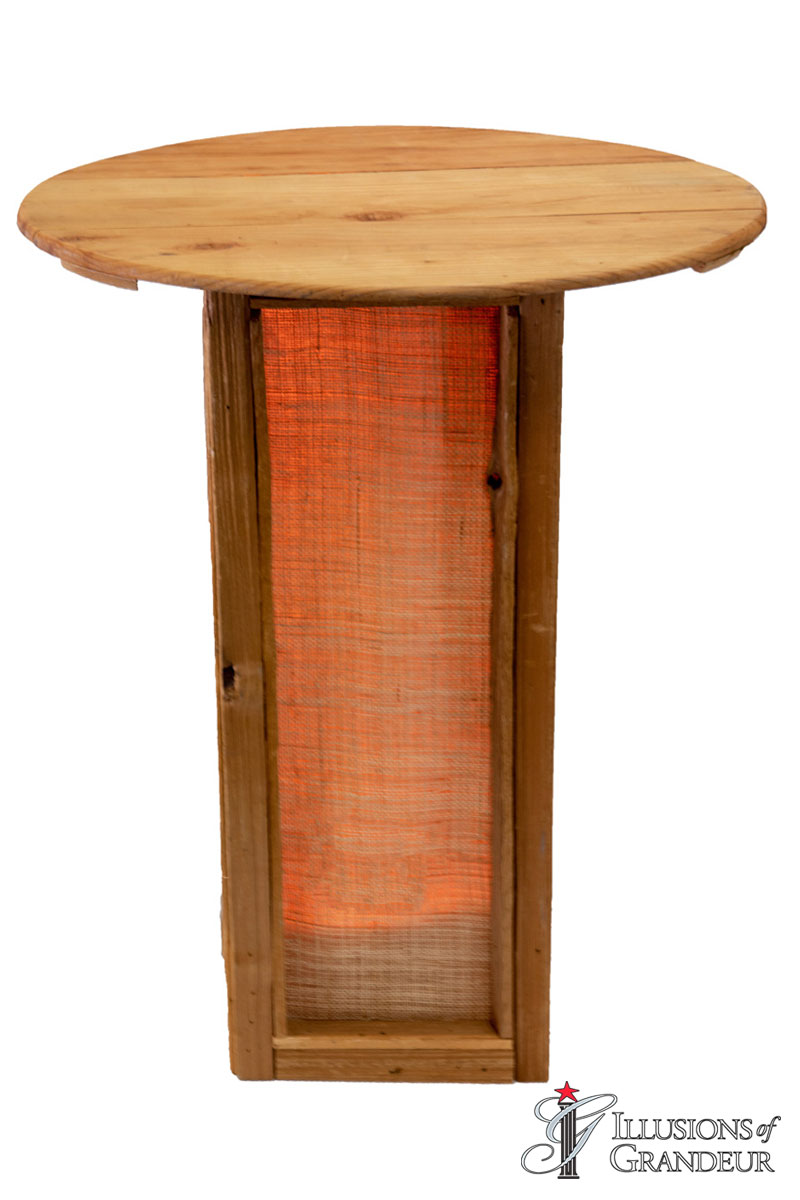 Illuminated Abaca Cocktail Tables