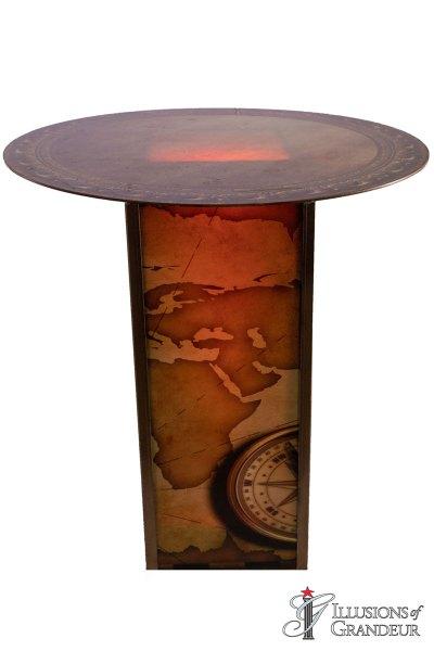 Illuminated Nautical Map Cocktail Tables