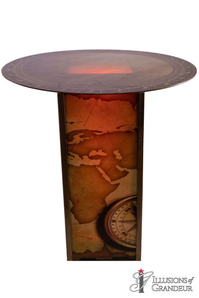 Illuminated Nautical Map Cocktail Tables