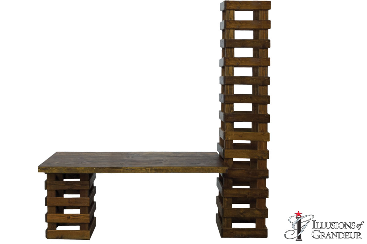 Rustic-Dining-Table-with-Tower