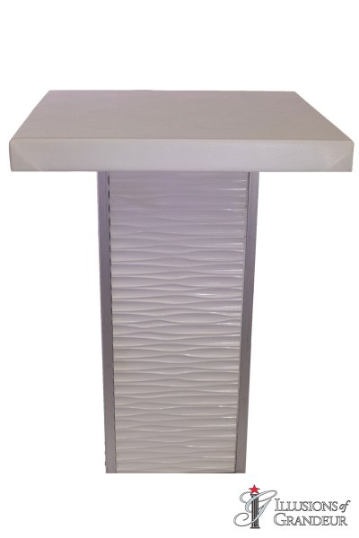 White Ripple Cocktail Tables ~ tall