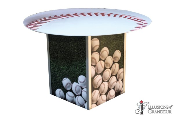 Illuminated Baseball Dining Tables
