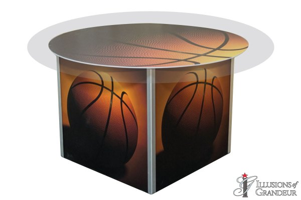 Illuminated Basketball Dining Tables