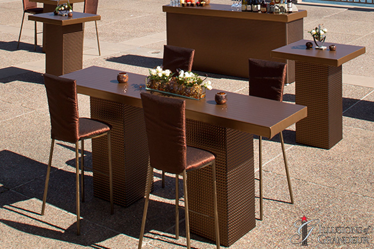 Bronze Square Communal Table