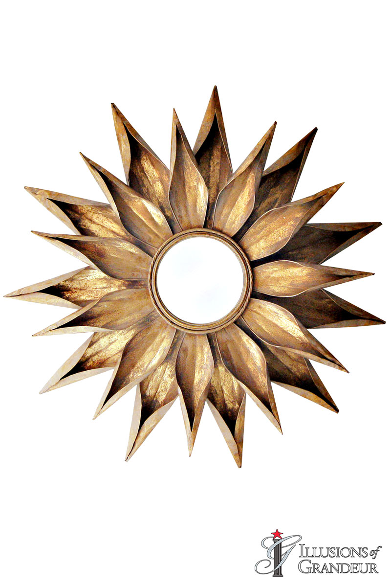 Gold Flower Mirrors