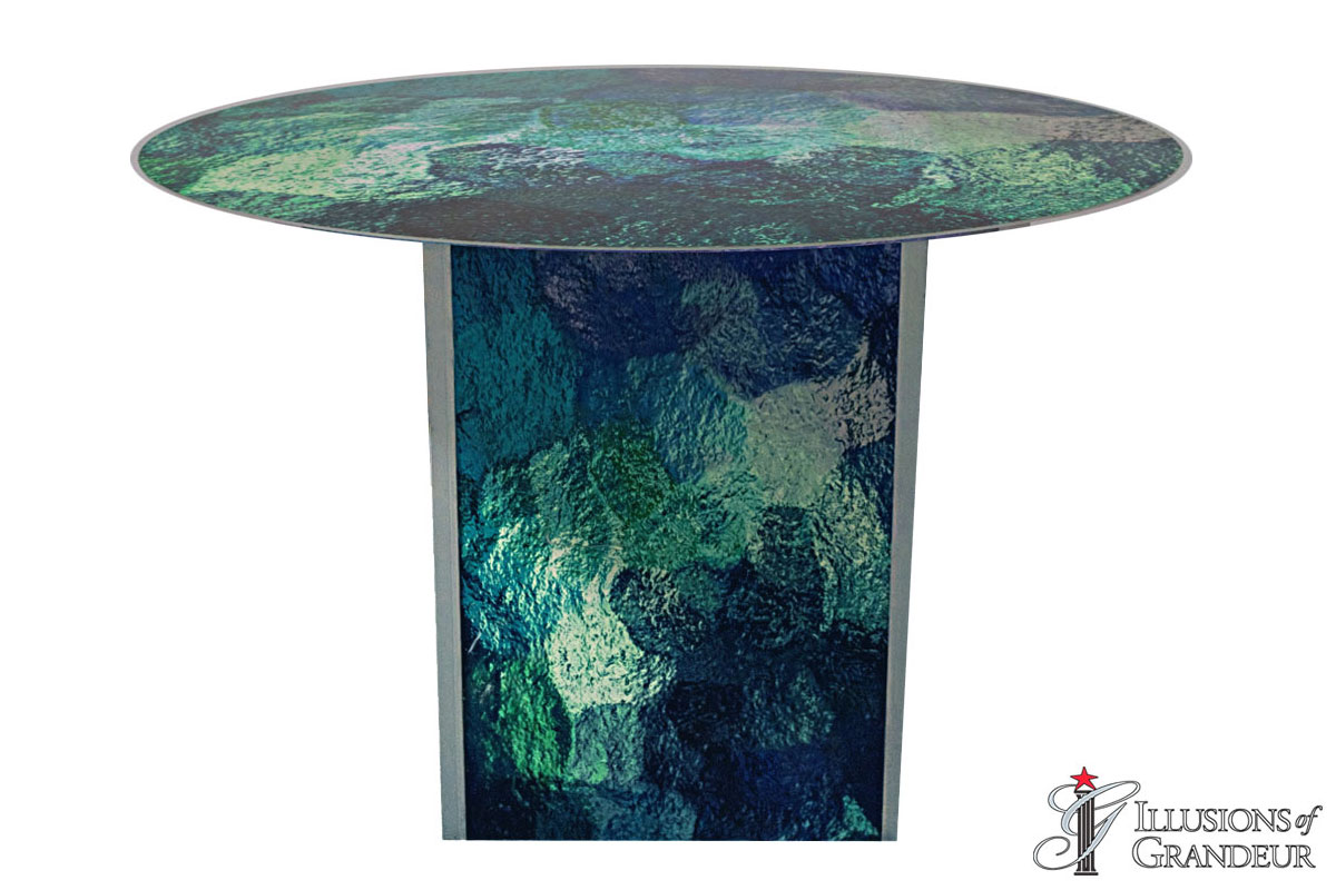 Illuminated Absrtact Blue Green Dining Tables~small