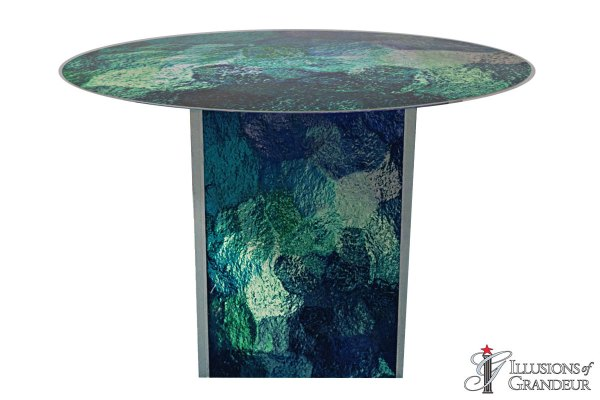 Illuminated Abstract Blue/Green Dining Tables~small
