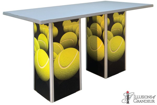 Illuminated Tennis Ball Communal Tables
