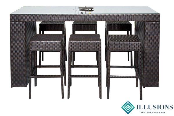 Napa Bar Table Sets with Backless Bar Stools