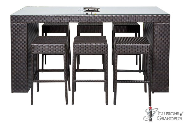 Napa Bar Table Sets with Backless Bar Stools
