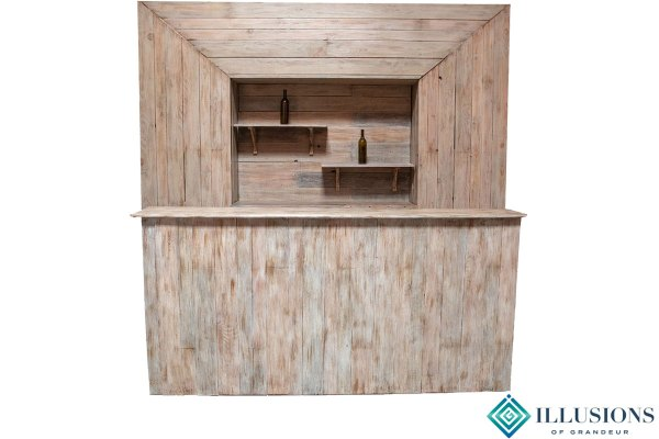 Rustic Wood Bars with or without Back Bars