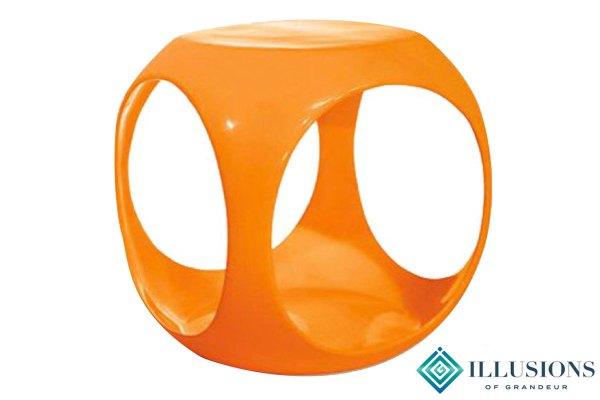 Side Tables: Orange Cube