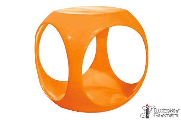 Side Tables: Orange Cube