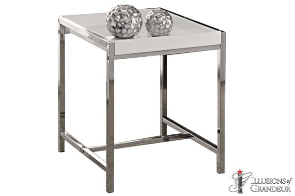 Side Tables: White Chrome