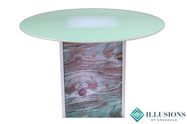 Illuminated Blue Cypress Dining Tables