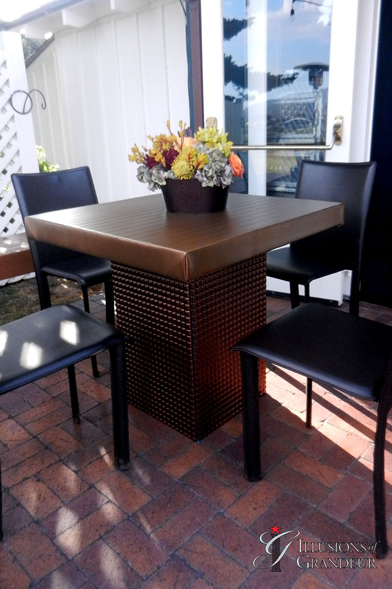 Bronze Square Cocktail Tables ~short