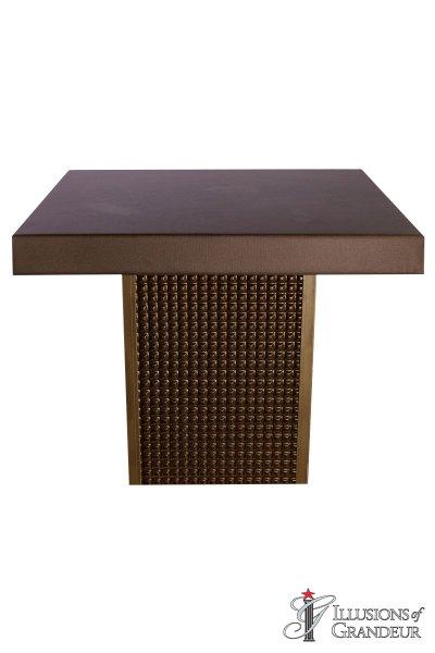 Bronze Square Cocktail Tables ~ short