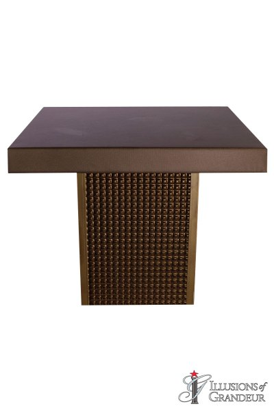 Bronze Square Cocktail Tables ~ short