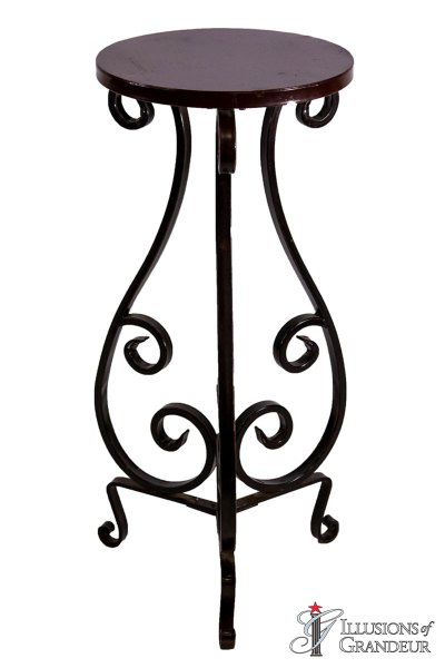 Wrought Iron Pedestals
