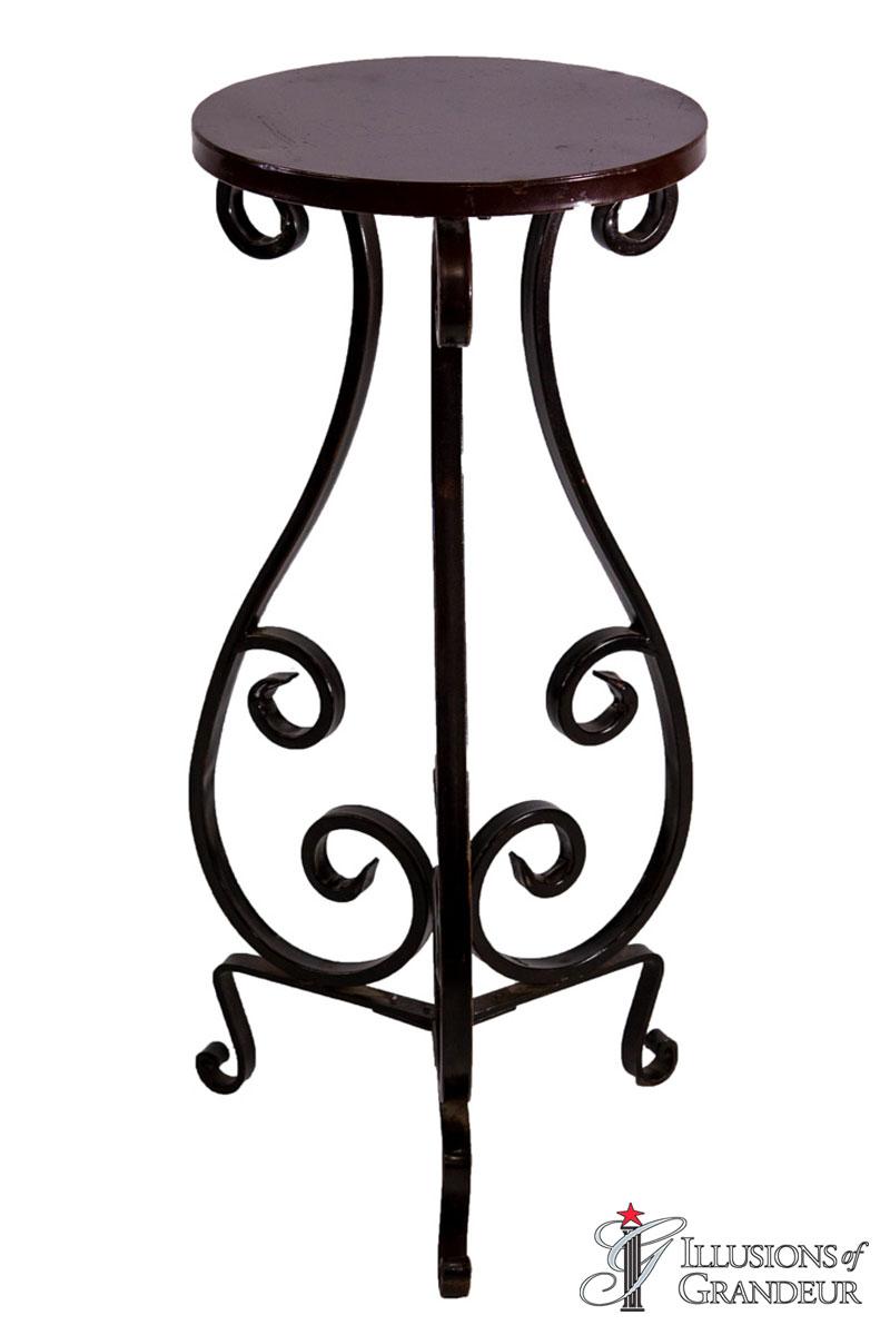 Wrought Iron Pedestals