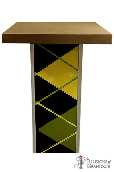Illuminated Argyle Cocktail Tables ~ tall