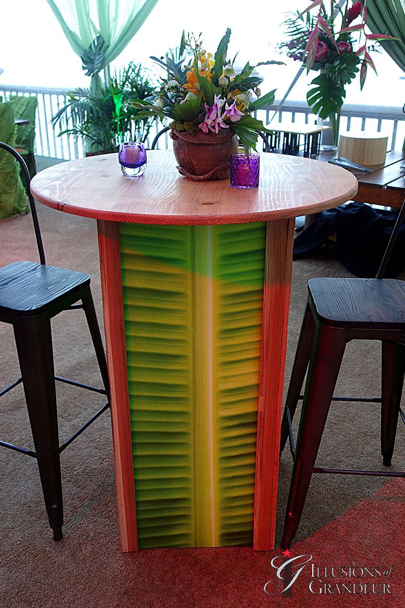 Illuminated Palm Leaf Cocktail Tables
