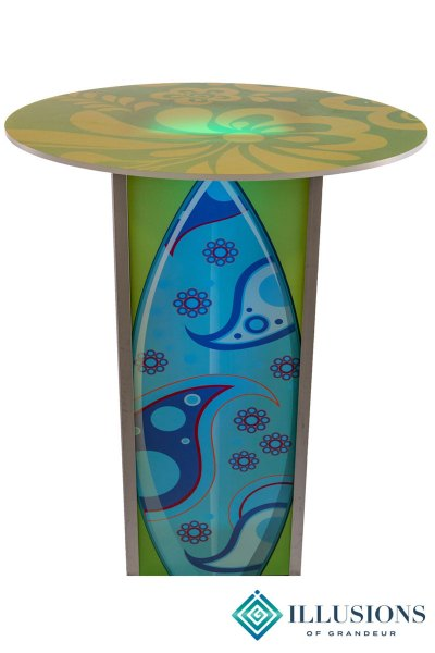 Illuminated Surf Board Cocktail Tables