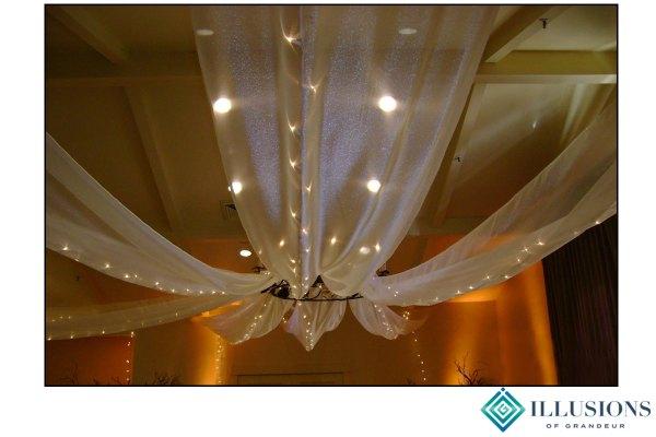 Wedding Ceiling Drape with Lights
