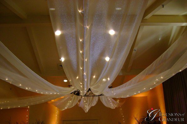 Wedding Ceiling Drape with Lights