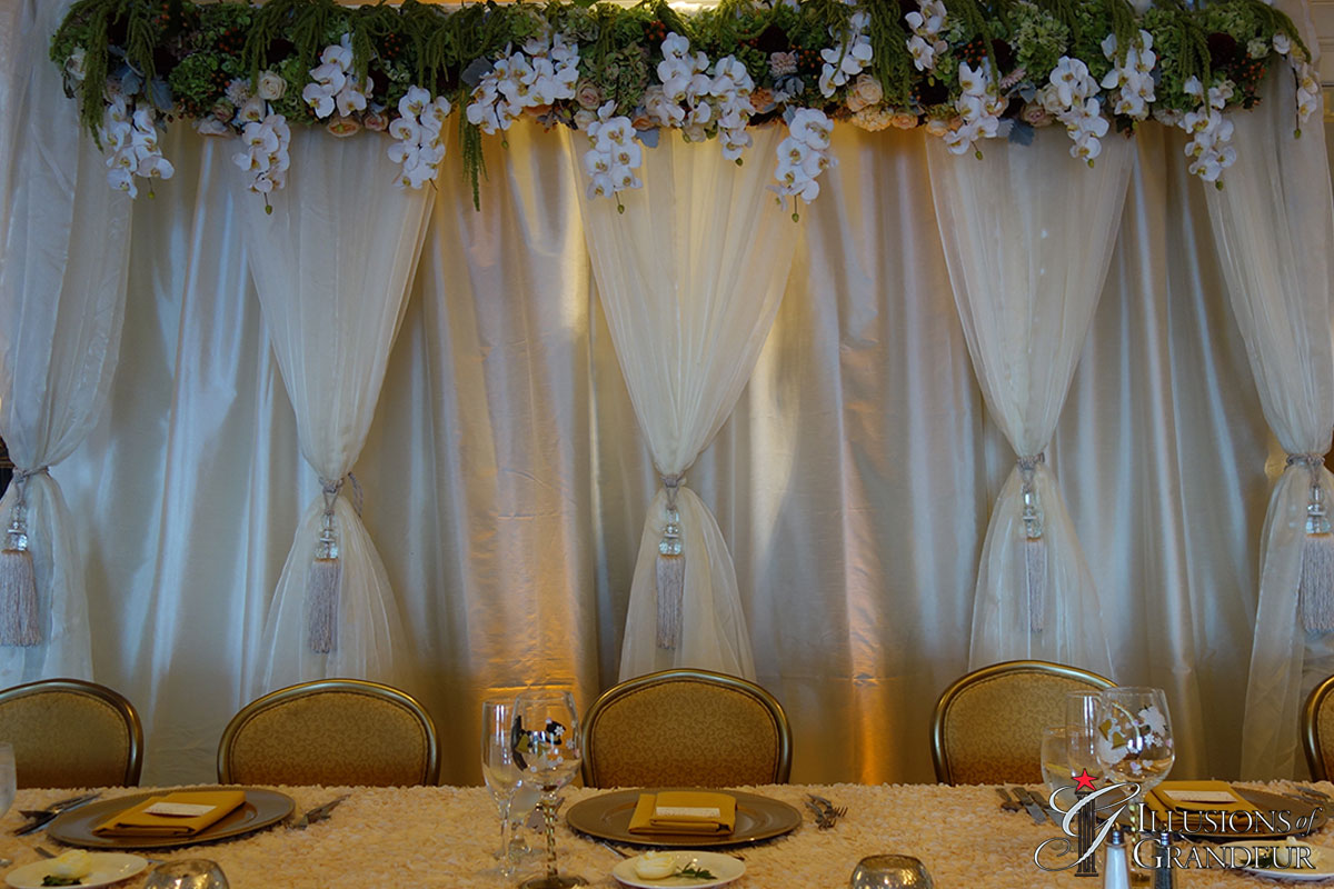 Table Fabric with Flowers