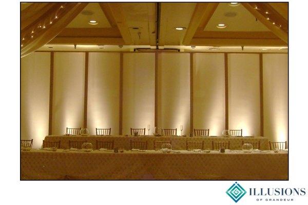 Wedding Screens Behind Head Table