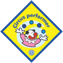 Circus Performer badge as used in GirlGuiding.