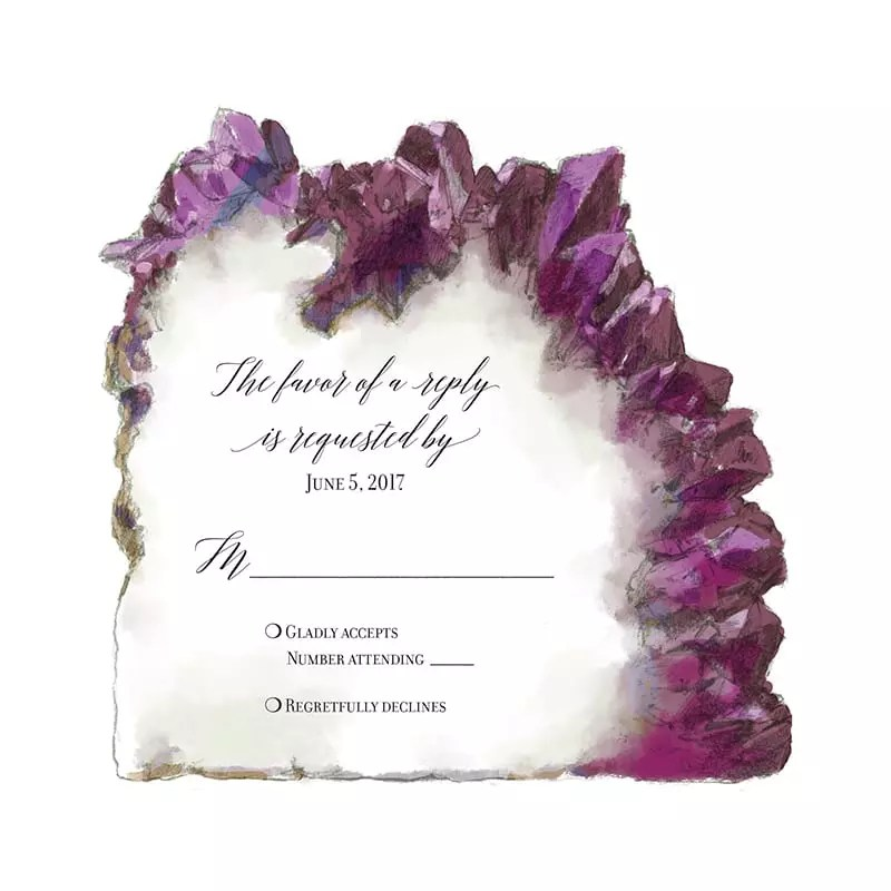 Illustrated RSVP - Amethyst