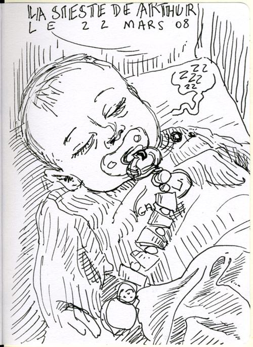 La sieste de Arthur