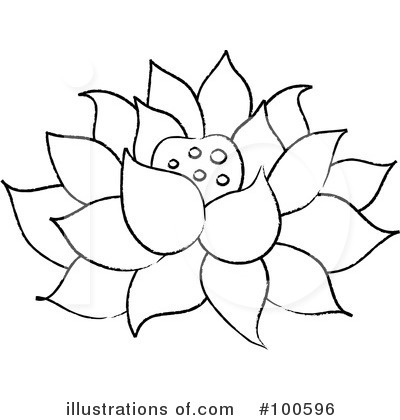 Lotus Clipart 100596 Illustration By Pams Clipart