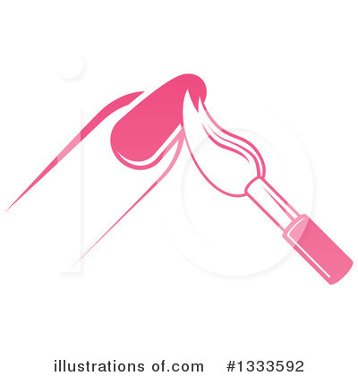 Clip Art Ilration Of A Bottle Red Nail Polish