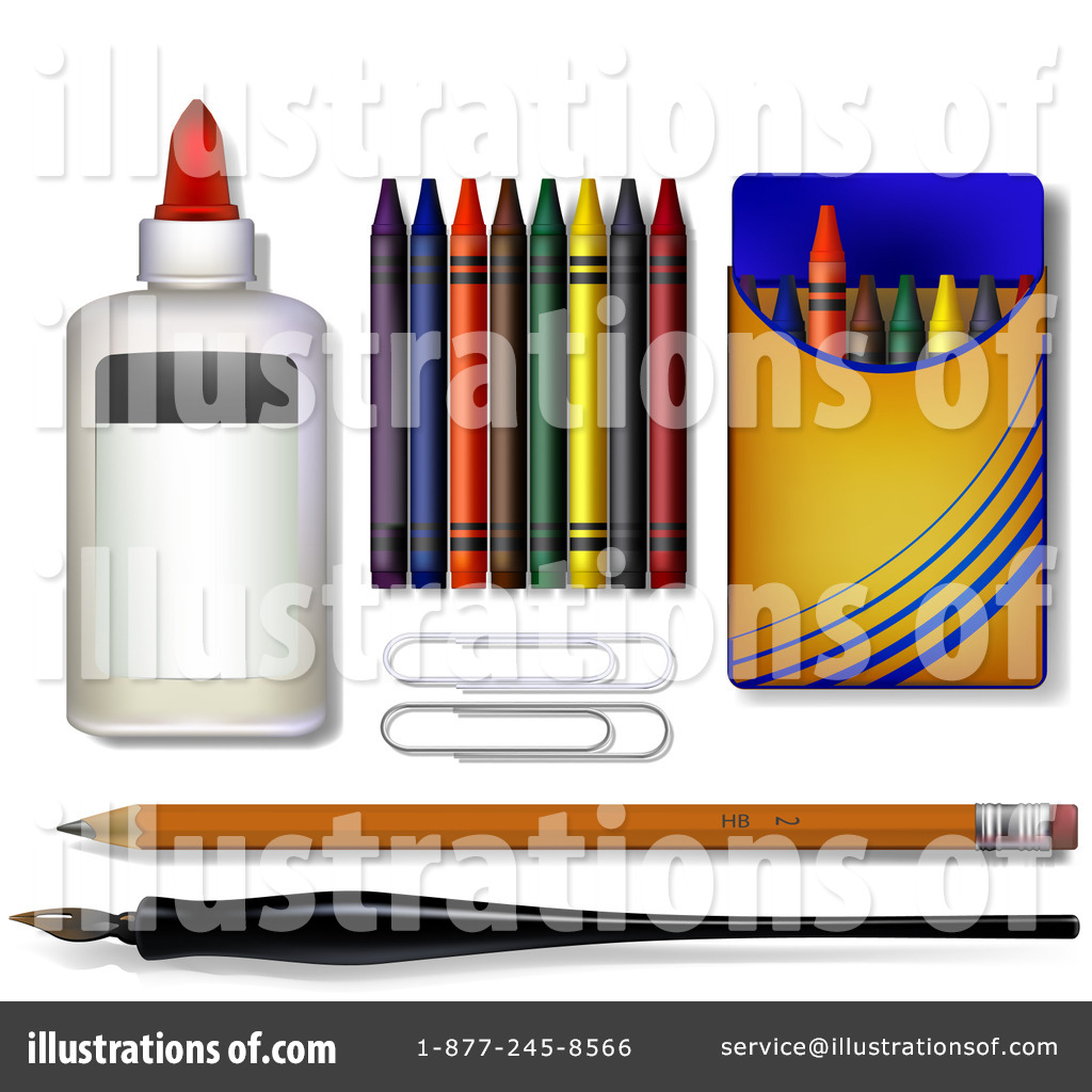 hight resolution of royalty free rf art supplies clipart illustration by leo blanchette stock sample