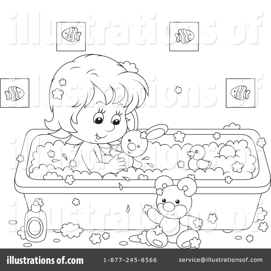 Bathing Clipart