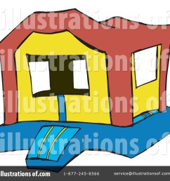 royalty free rf bounce house clipart illustration 65604 by dennis holmes designs [ 1024 x 1024 Pixel ]