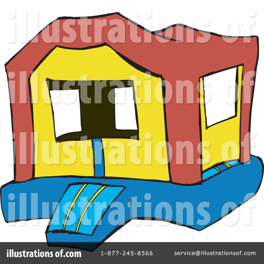 hight resolution of royalty free rf bounce house clipart illustration 65604 by dennis holmes designs