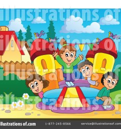 royalty free rf bounce house clipart illustration 1189639 by visekart [ 1024 x 1024 Pixel ]