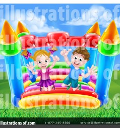royalty free rf bouncy house clipart illustration 1400233 by atstockillustration [ 1024 x 1024 Pixel ]