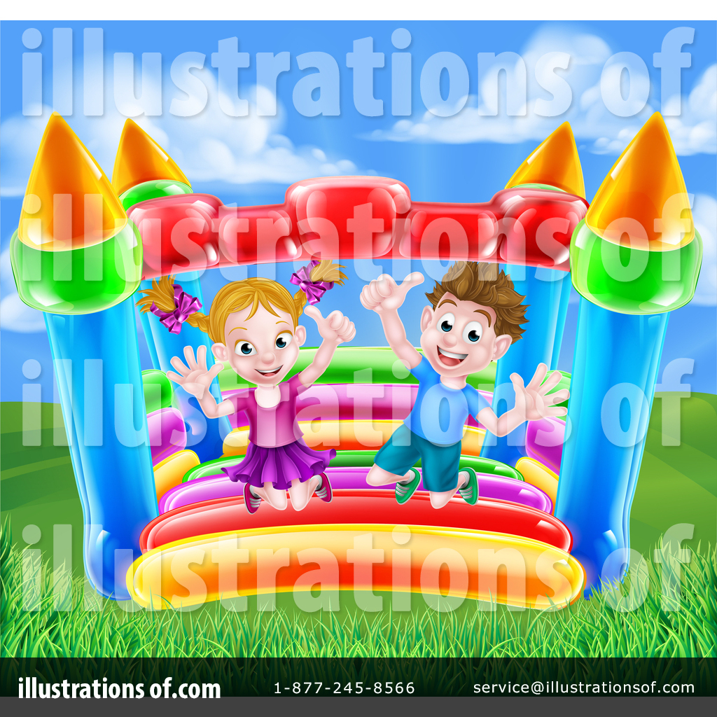 hight resolution of royalty free rf bouncy house clipart illustration 1400233 by atstockillustration