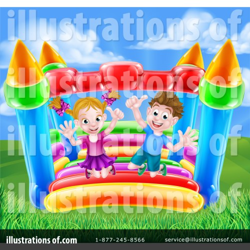 small resolution of royalty free rf bouncy house clipart illustration 1400233 by atstockillustration