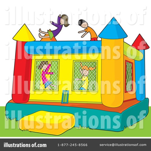 small resolution of royalty free rf bouncy house clipart illustration by maria bell stock sample