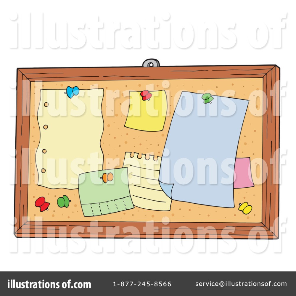 medium resolution of royalty free rf bulletin board clipart illustration 213020 by visekart