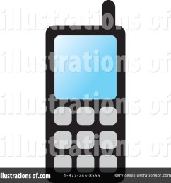 royalty free rf cell phone clipart illustration by lal perera stock sample [ 1024 x 1024 Pixel ]