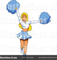 royalty free rf cheerleader clipart illustration by clip art mascots stock sample [ 1024 x 1024 Pixel ]
